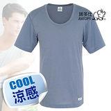 【瑞多仕-RATOPS】男款 Coolmax 圓領快乾排汗內衣/鐵灰 DE7002