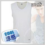 【瑞多仕-RATOPS】男款 Coolmax V領快乾排汗內衣/銀灰 DE7008