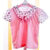 (購物車)魔法Baby ~女童假兩件短袖上衣(粉)~時尚設計童裝~k20410