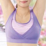 【華歌爾】城市輕運動系列B罩杯瑜珈內衣(伸展紫)