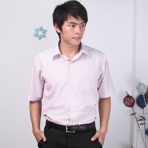 JIA HUEI 短袖柔挺領吸濕排汗防皺襯衫 3158細條紋 粉色 [台灣製造]
