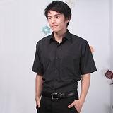 JIA HUEI 短袖柔挺領吸濕排汗防皺襯衫 黑色 [台灣製造]
