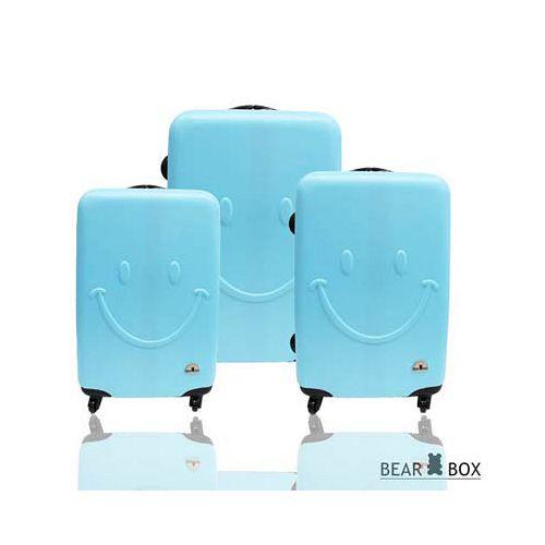 Bear Box 一見你就笑 ★ ABS霧面輕硬殼行李箱三件組-微笑藍