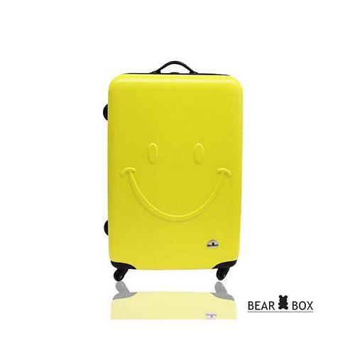 Bear Box 一見你就笑 ★ ABS霧面輕硬殼行李箱-20吋微笑黃