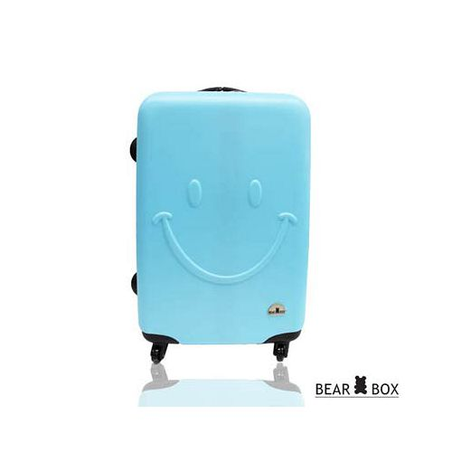 Bear Box 一見你就笑 ★ ABS霧面28吋限定加大輕硬殼行李箱-微笑藍