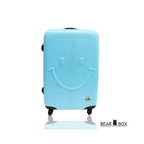 Bear Box 一見你就笑 ★ ABS霧面輕硬殼行李箱-24吋微笑藍