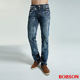 BOBSON 男款雪花直筒牛仔褲(1759-53)
