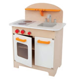 德國Hape愛傑卡-大型廚具台(白色限量款)