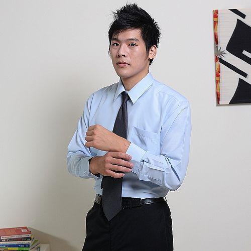 JIA HUEI 長袖柔挺領吸濕排汗防皺襯衫 3158 條紋藍 [台灣製造]