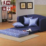 【四季良品】艾蜜莉雙人沙發床-藍