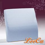 【LooCa】吸濕排汗釋壓腰靠墊(粉藍)