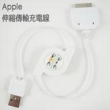 Apple NEW iPad iPad2 iPhone 4 3G 3GS iPod Touch 4 USB CABLE 雙拉伸縮 充電線 傳輸線