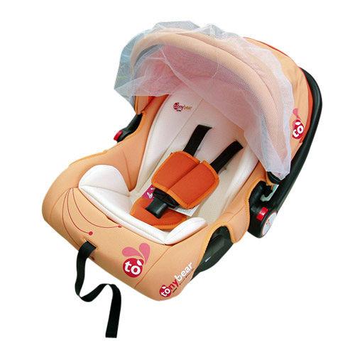 湯尼熊 Tony Bear 嬰兒提籃汽座(咖啡色/橘色)