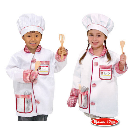 美國 Melissa & Doug 角色扮演 -【廚師服遊戲組】玩具