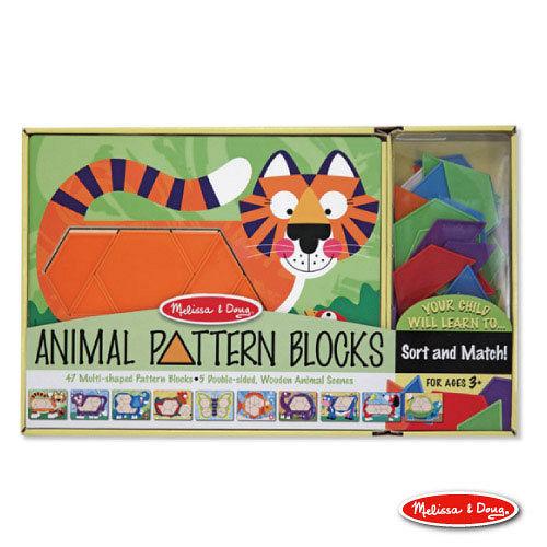 美國 Melissa & Doug 動物造型拼板 -【10面拼板,47pcs】
