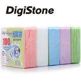 DigiStone 五色雙面CD/DVD光碟棉套 5包
