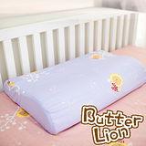 【奶油獅】正版授權~乳膠、記憶工學大枕專用100%純棉枕頭套(幻紫*4入)