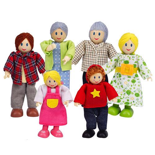 德國Hape愛傑卡-角色扮演娃娃系列快樂家庭組-白人