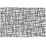 《KOZIOL》Silk網紋硬餐墊(黑)