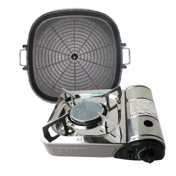 【K-ONE】卡旺遠紅外線瓦斯爐(K1-1200V) +韓國最新火烤兩用烤盤@條狀盤(tray-2)