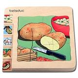 德國Beleduc貝樂多-多層木拼圖-馬鈴薯(五合一多層木拼圖)