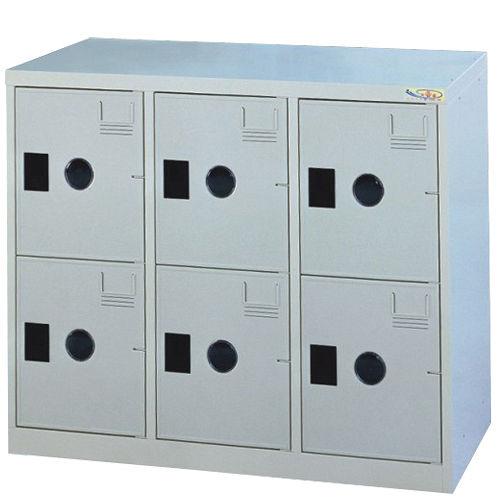 HAPPYHOME~免組裝~多用途 鋼製6格置物櫃MC~1006A