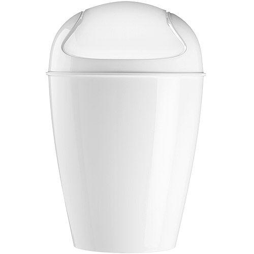 《KOZIOL》Del搖擺蓋垃圾桶(白M)