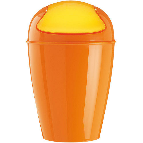 《KOZIOL》Del搖擺蓋垃圾桶(橘XL)