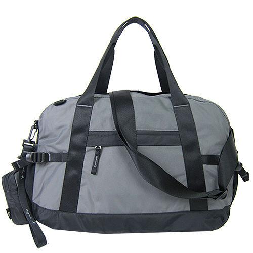 agnes b 蜥蜴尼龍托特旅行袋(附零錢包)(鐵灰)