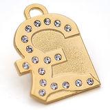 澳洲品牌Hamish McBeth-英磅BlingBling水晶吊牌 (金色)
