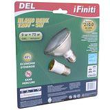 【未來之光】LED9W-Par燈-燈泡-附一個E27加長頭-黃光-6入組/6盒透明包裝
