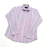 『摩達客』英國進口【Charles Tyrwhitt】高級彩色多緞紋長袖襯衫