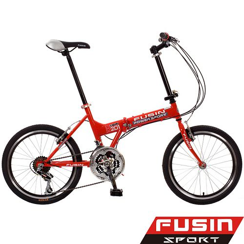 【FUSIN】都市穿梭小摺F201 ◎20吋21速折疊自行車