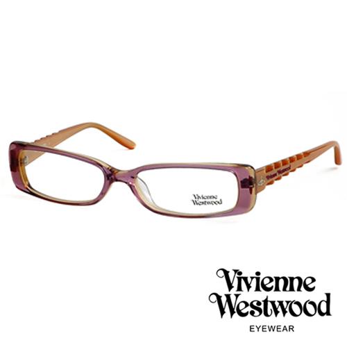 Vivienne Westwood 光學鏡框骨棒龐克造型光學眼鏡/(粉晶紫) VW175G01