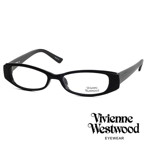 Vivienne Westwood 經典LOGO造型英倫龐克風光學眼鏡 (質感黑) VW192G01