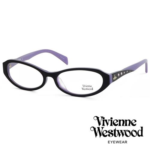 Vivienne Westwood 閃亮時尚晶鑽光學眼鏡 (紫黑) VW193G01