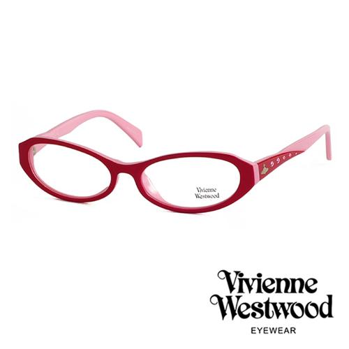 Vivienne Westwood 閃亮時尚晶鑽光學眼鏡 (粉彩紅) VW193G03