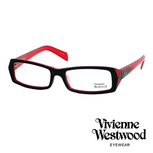 Vivienne Westwood 英倫龐克雙色板料光學眼鏡(紅黑色) VW195G04