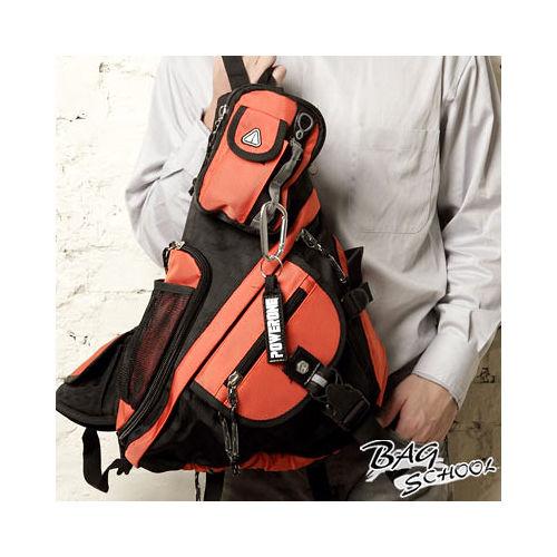 DF【Bag school】率性斜背可拆式多功能休閒包