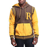 『摩達客』美國進口【Rocawear】棕黃R標連帽外套