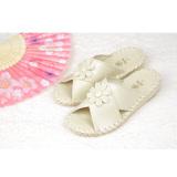 日本PANSY【9370】花樣年華室內女拖-米色