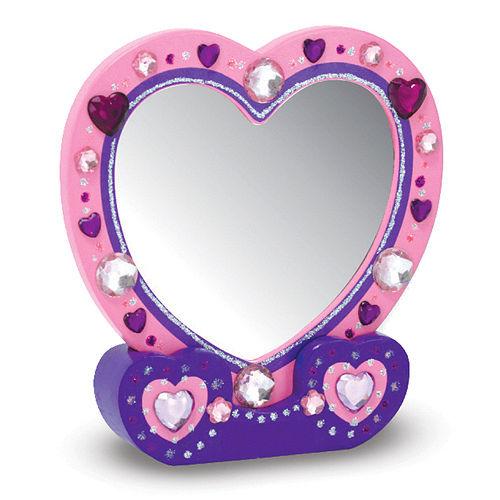 美國瑪莉莎 Melissa & Doug 親子美勞 DIY  - 木製心型桌鏡