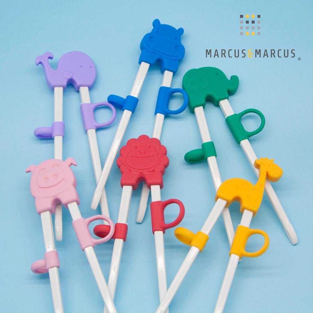【MARCUS&MARCUS】動物樂園幼兒學習筷(多款繽紛任選)
