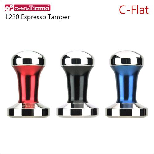 CafeDeTiamo C-Flat C平底 不鏽鋼填壓器 58mm 【黑/藍/紅】附底墊 (HG3746)