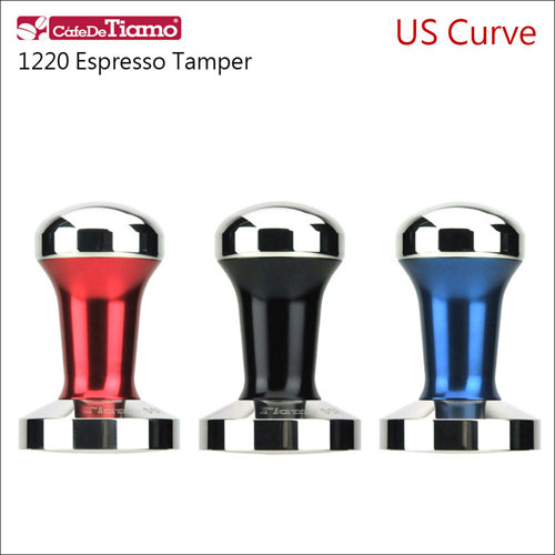 CafeDeTiamo U.S. Curve 美弧 不鏽鋼填壓器 58mm 【黑/藍/紅】附底墊 (HG3748)