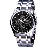 TISSOT Couturier 建構師系列計時機械錶-黑 T0356271105100