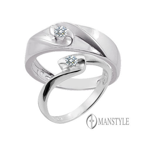 MANSTYLE 美麗的日子 0.10ct南非天然鑽石對戒