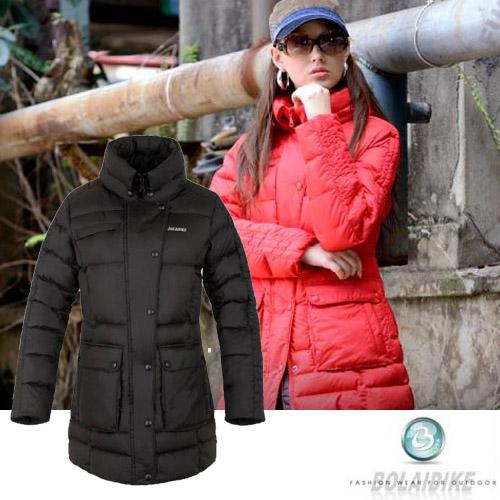 【波萊迪克 Bolaidike】 女 單件式保暖透氣羽絨外套.夾克.羽絨衣.保暖外套 /防潑水.帽可收/ 紅、黑 TF029