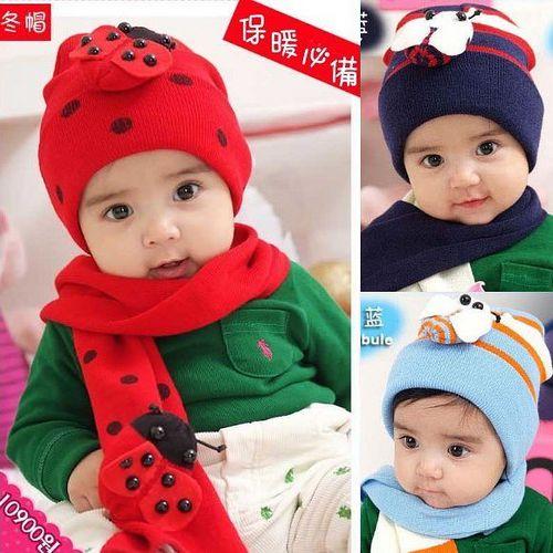 購物車:超Q((可愛小瓢蟲-紅色))保暖帽+圍巾二件組 (現貨+預購)