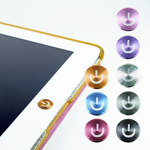多彩鋁鎂合金按鍵貼(開關款) for iPad | iPhone | iPod Touch